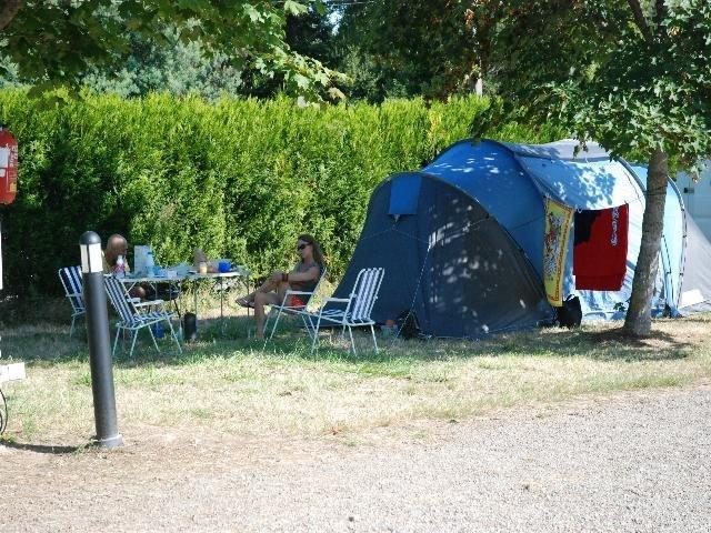 emplacements du camping